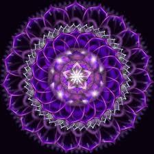 mandala purple light