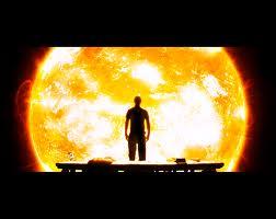 sunball silhouette man