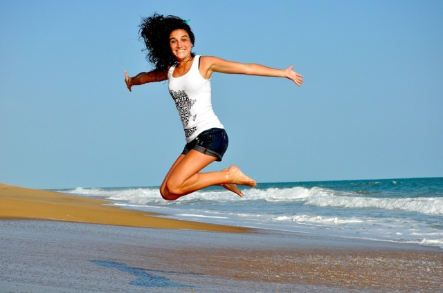 jump joy health beach pixabay