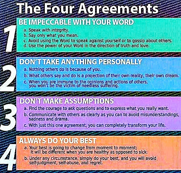 4 Agreements Grab These To Change Your Life For Good Joystream
