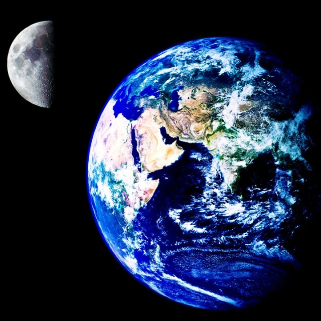 blue earth moon pixabay
