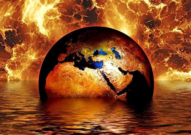 earth-fire global warming pixabay