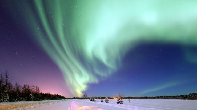 Magical Night Alaska Aurora Borealis Space