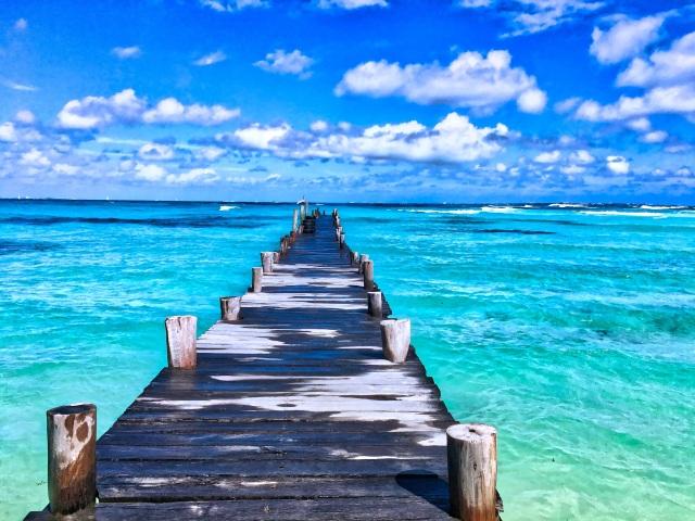 pexels-freephoto pier turquoise water