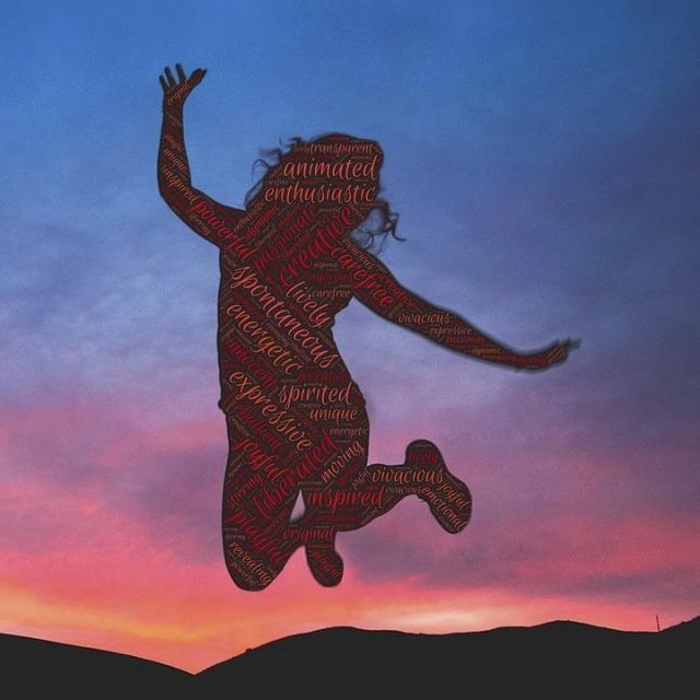 liberated jump sunset pixabay