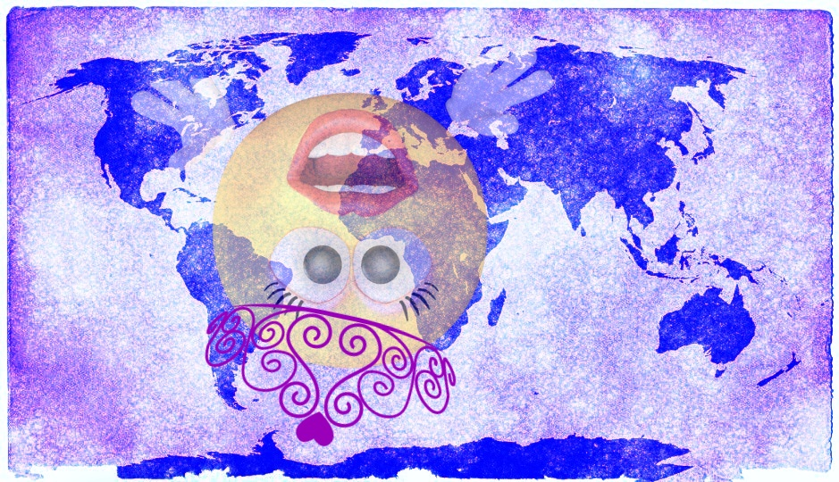 3rd emoji pixabay world map pxhere