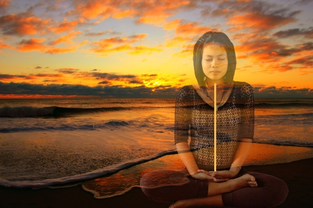 spine meditation seaside Needpix