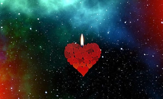 heart flame among stars Pxfuel