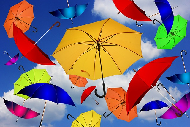 umbrellas colorful Gerd Altmann Pixabay