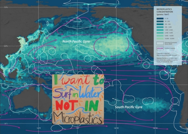 microplastics in Pacific on Flickr w Wikimedia sign